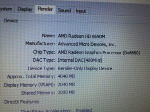 Laptop Dell E6440 I5 thế hệ 4 4300M, Ram 4G, HDD 320G, VGA RỜI AMD HD 8690M.