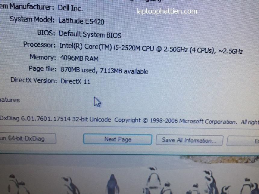 Dell E5420 xách tay TPHCM