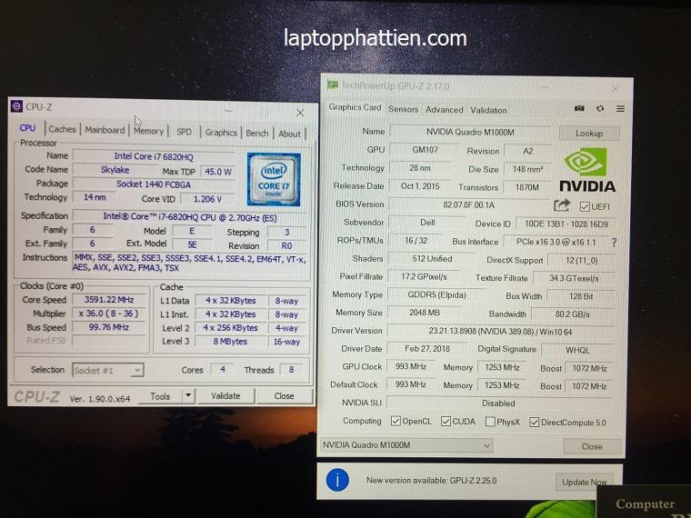 Laptop Dell Precision 7510, laptop nhập khẩu dell precision 7510 vga m1000m tphcm