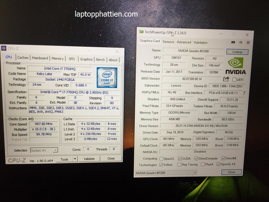 Lenovo Thinkpad P51, lenovo thinkpad p51 i7 giá sỉ hcm