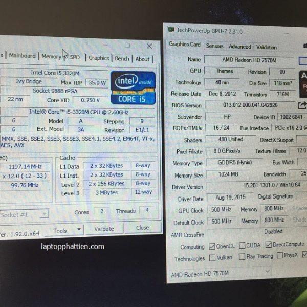 Laptop HP 8470P core I5 vga rời AMD HCM