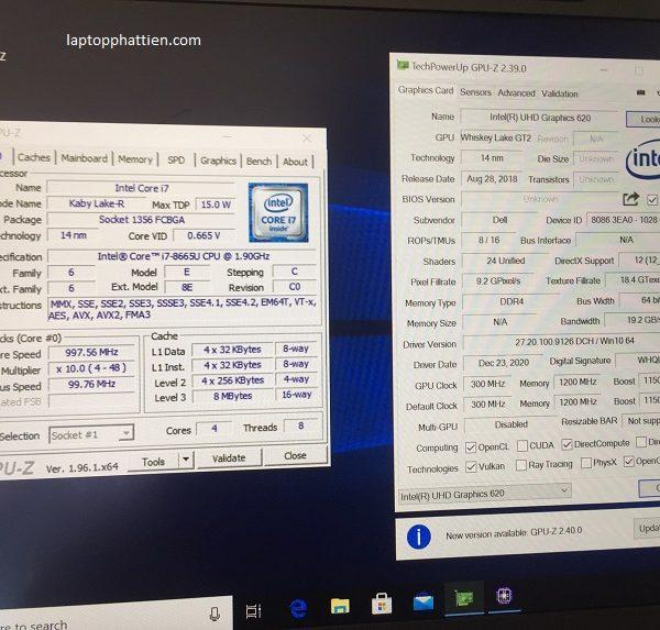 laptop xách tay dell latitude 7300 i7 8665U FHD IPS