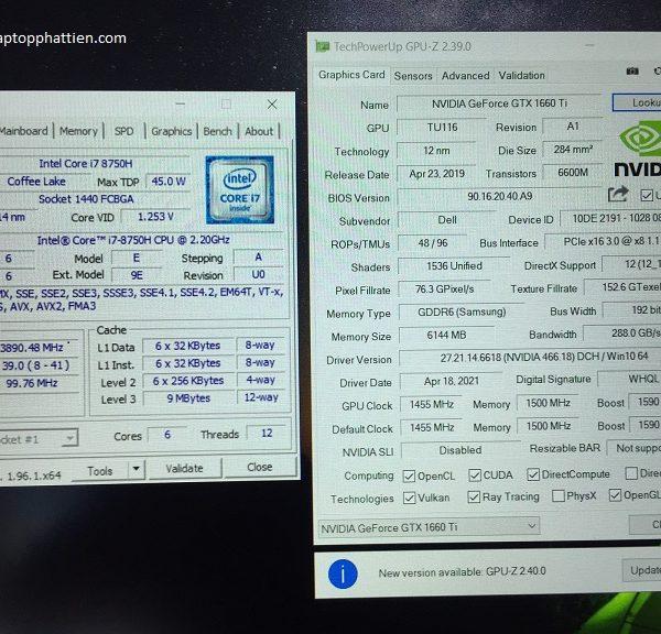 Dell Alienware M15 I7 8750H vga GTX 1660TI FHD giá rẻ