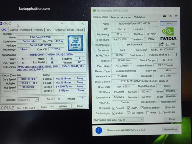 Laptop Dell Alienware M15, Dell Alienware M15 I7 8750H vga GTX 1660TI FHD giá rẻ