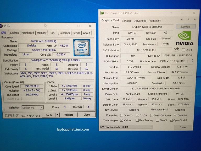 Laptop HP Zbook Studio G3 I7, HP Zbook Studio G3 I7 6820HQ VGA M1000M 4K giá rẻ HCM